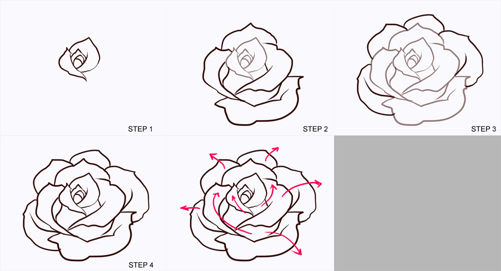 Drawn rose step by step By Google Google step Art