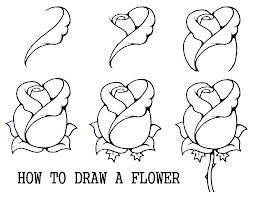 Drawn rose step by step By on rose more Best