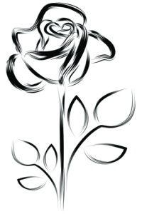 Drawn rose tiny rose Tattoo bud Behind Pinterest Best
