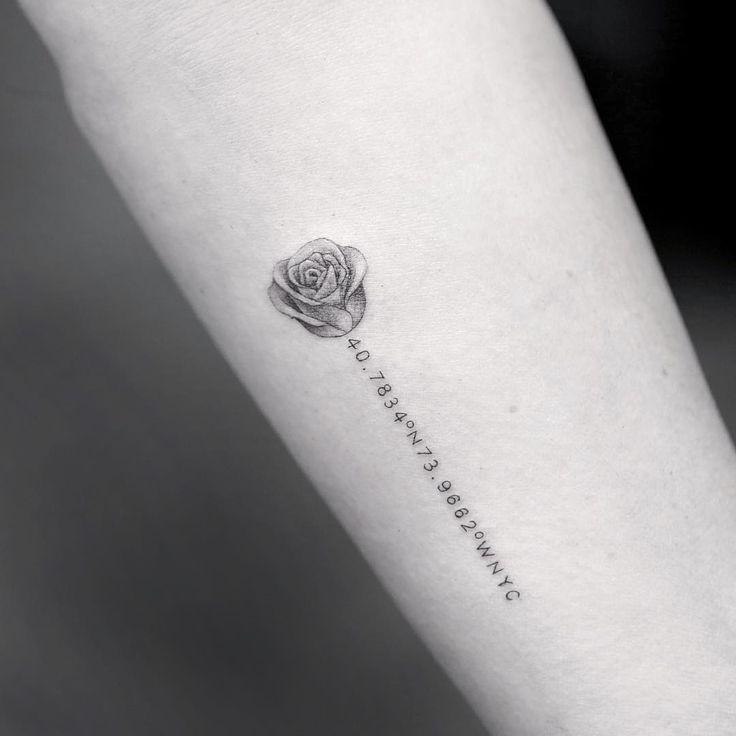 Drawn rose tiny rose Pinterest on rose rib tattoos