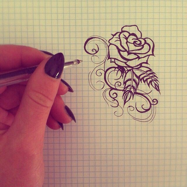 Drawn rose tiny rose 25+ ideas rose Small tattoos
