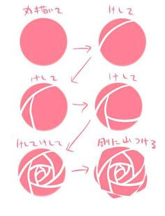 Drawn rose top To and a How Heart