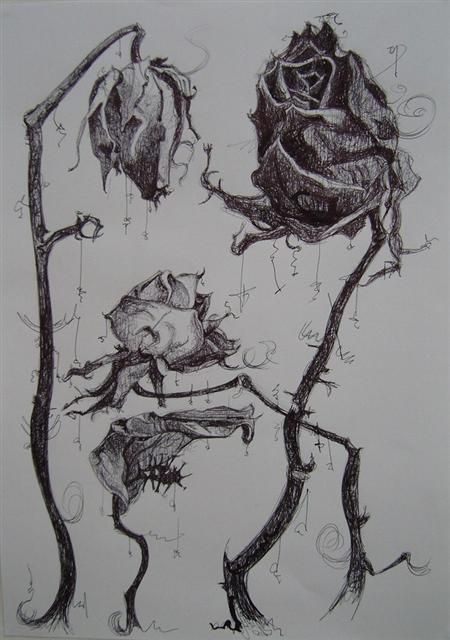 Drawn rose wilted Ideas Pinterest 25+ The dead