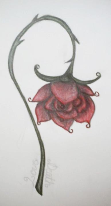 Drawn rose wilted Alyc1a DeviantArt a alyc1a rose