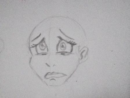 Drawn sad The face Drawing sleepy Sad