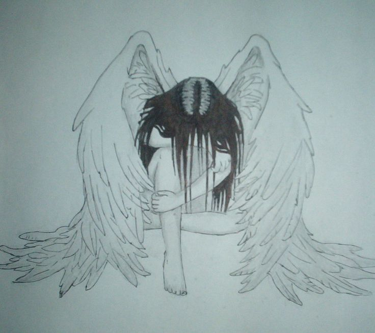 Drawn angel 20+ on angel Sad ideas