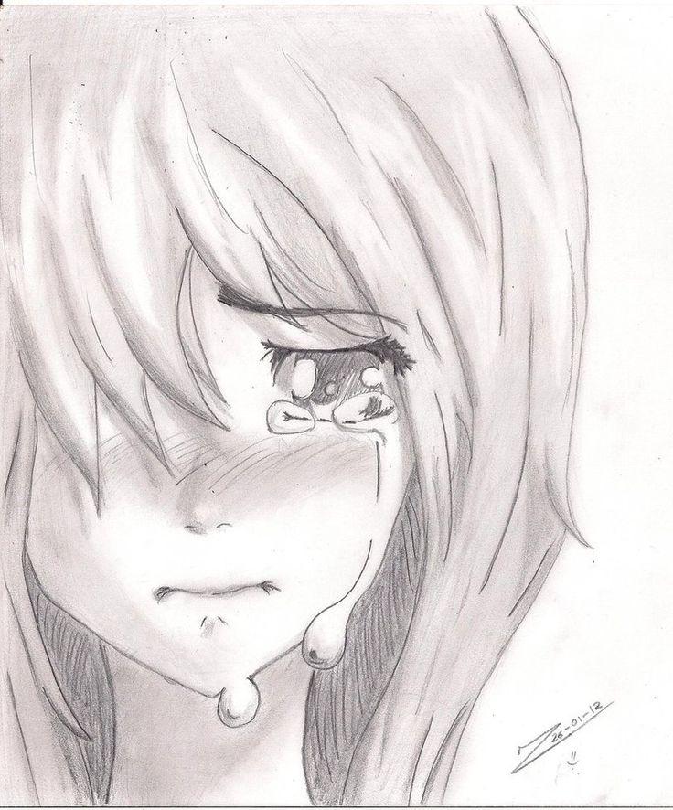 Drawn sad anime Anime best Girl Pinterest and
