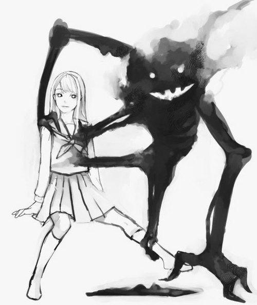 Drawn sad demon Demon via Pinterest Tumblr Sad