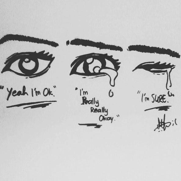 Drawn tears work Anime eye Crying Show DrawingsIt