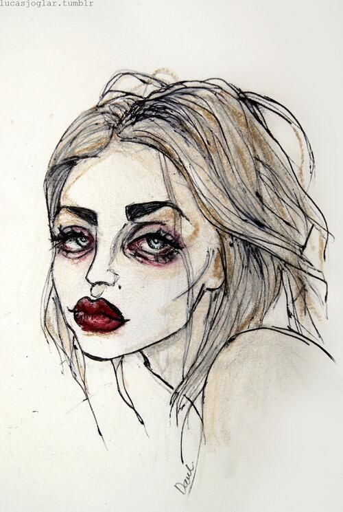 Drawn sad grunge Art Grunge #Cobain Pinterest The