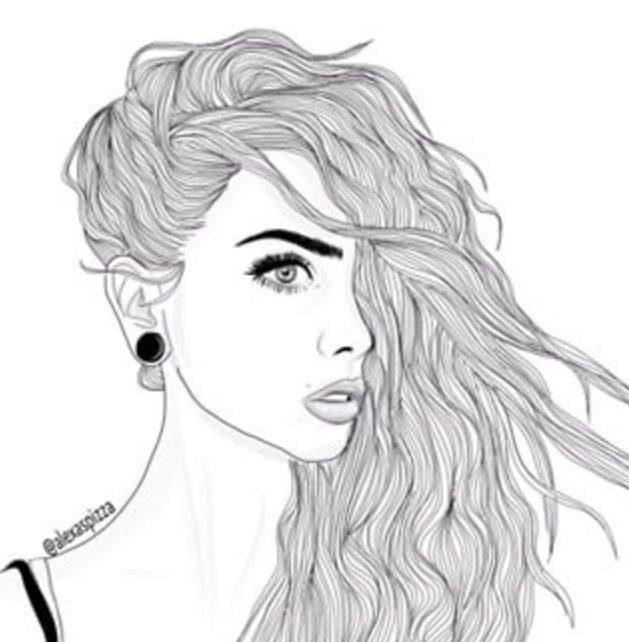 Drawn sad grunge Girl Art on Beautiful Pinterest