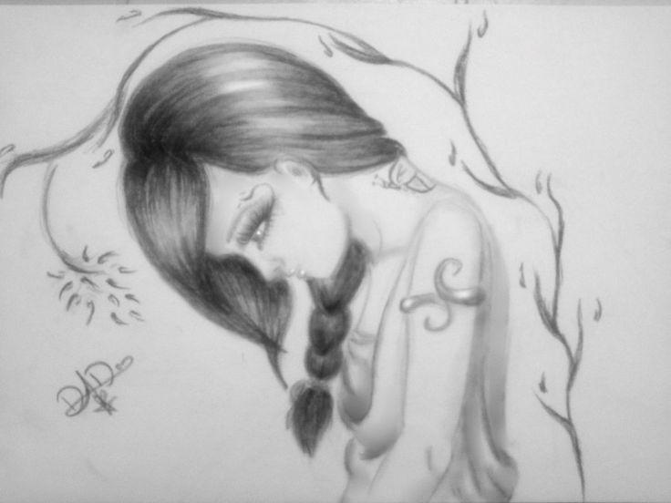 Drawn sad high  Hdlovewall com Wallpaper Pencil