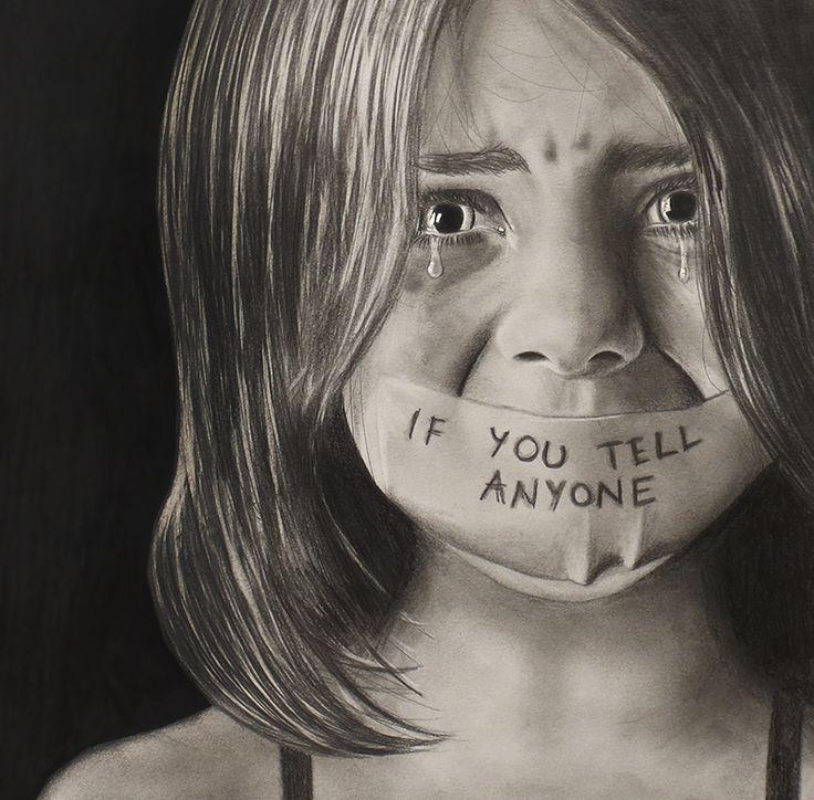 Drawn sad high Children children Beautiful  Abused