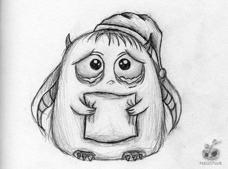 Drawn sad monster Images 195 best drawing on