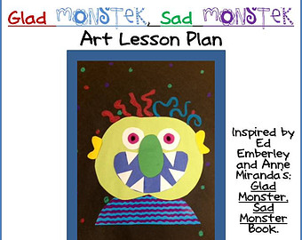 Drawn sad monster Templates Glad for Etsy with