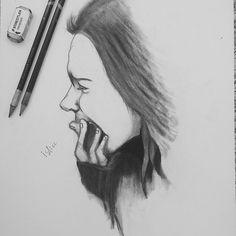 Drawn sad realistic Cry Arts Instagram Drawings Drawings