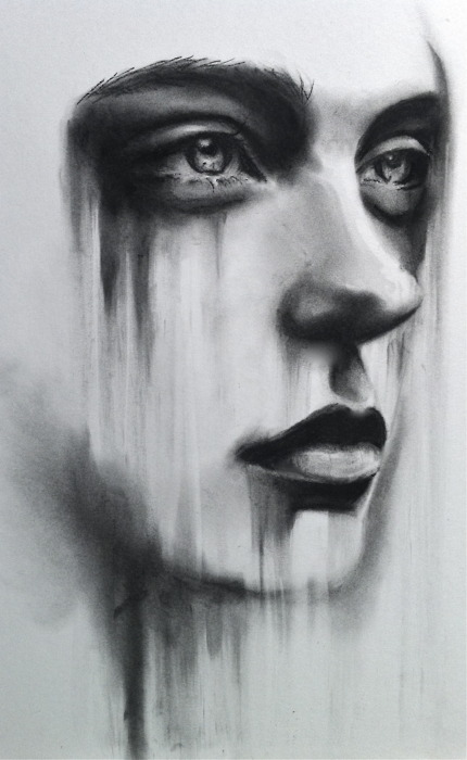 Drawn sad realistic Picture Realistic Art Drawing Drawing