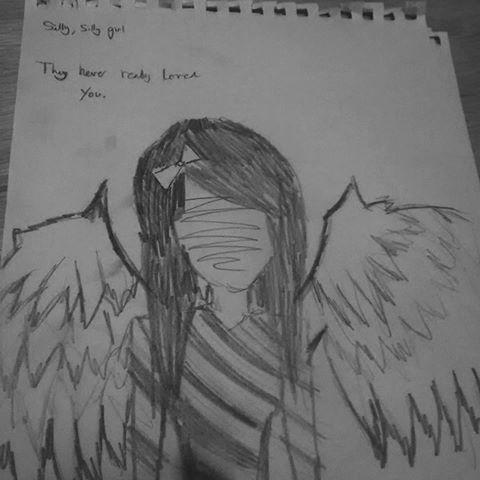 Drawn sad really #draw  They girl #draws