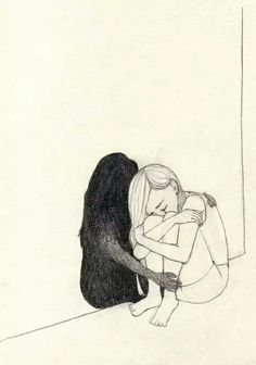 Drawn sad really Girl draw and Pin rain