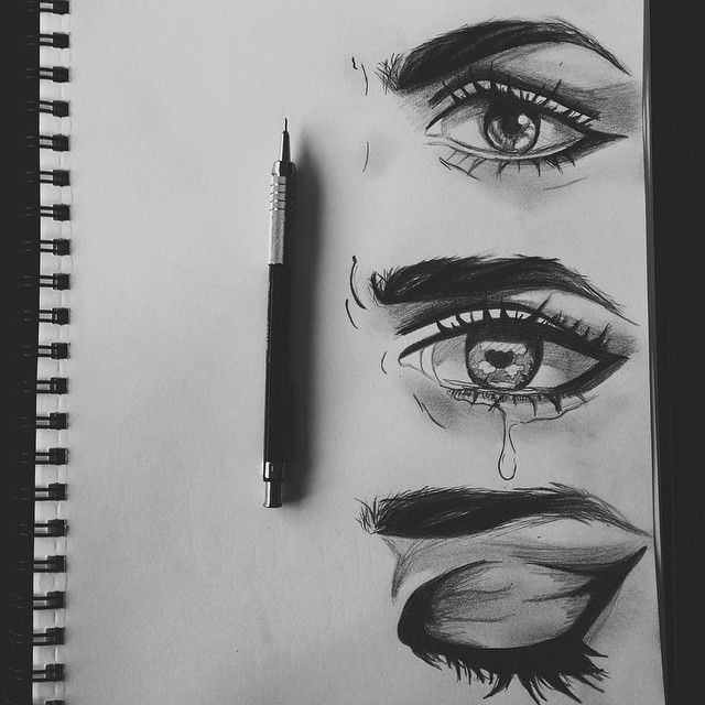 Drawn sad sad eye Pinterest and ideas drawing ideas