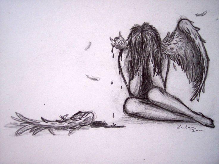 Drawn sad sad heart 20+ and  Wings on