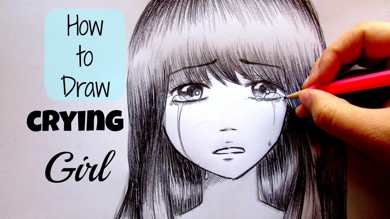 Drawn sad sad person Crying Manga disegnare Come Tutorial