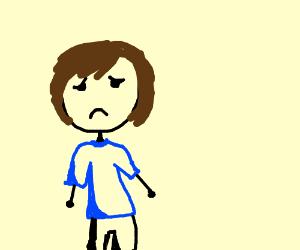 Drawn sad sad person Sad by (drawing Sad person