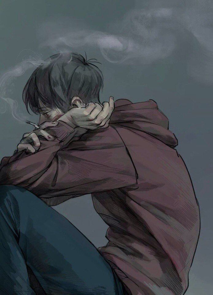 Drawn sad smoking Smoking Find on Pinterest Best