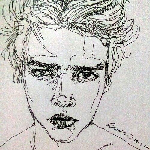 Drawn sad soft grunge And Karin (@natkarin12) ♡♡ #indie