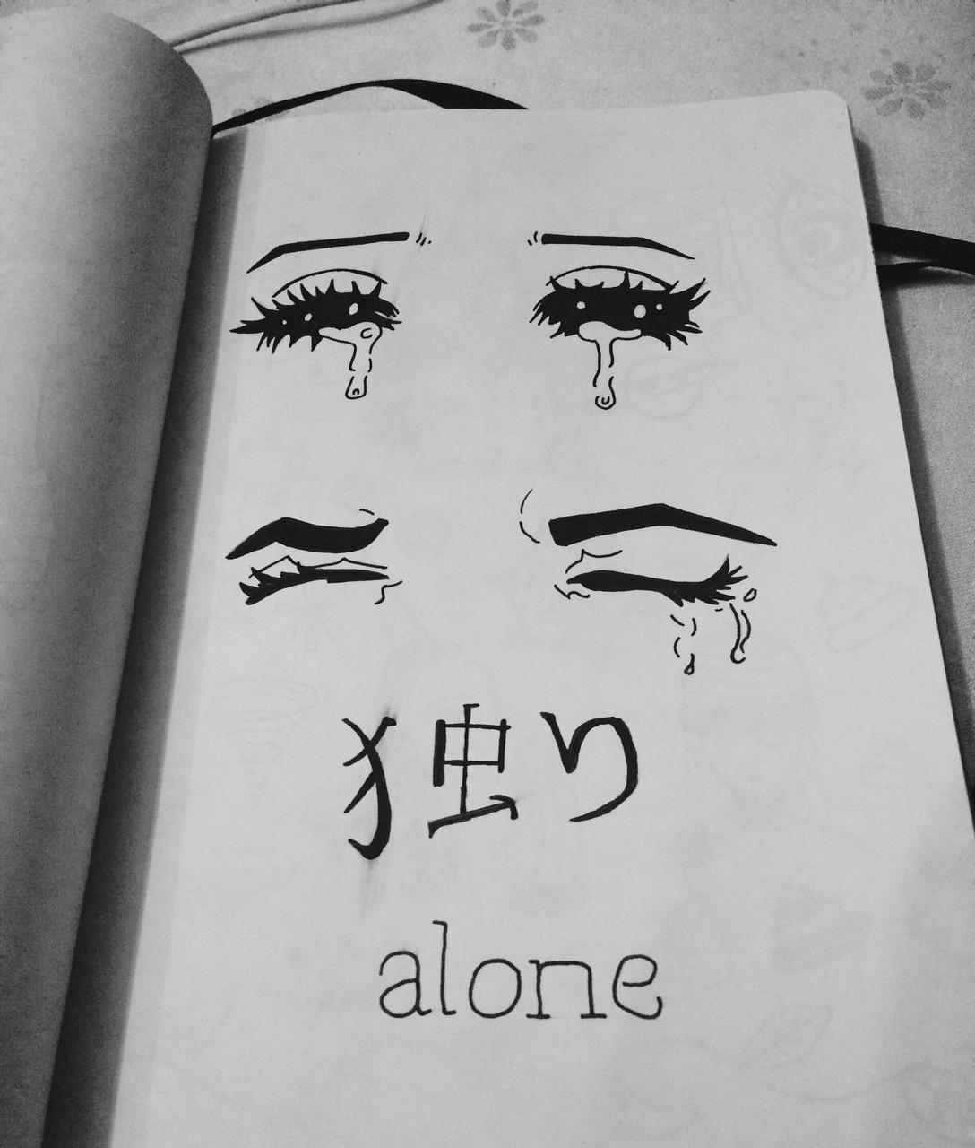 Drawn sad soft grunge About  in Image