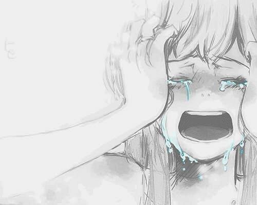 Drawn sad anime Images end is life CryingSad
