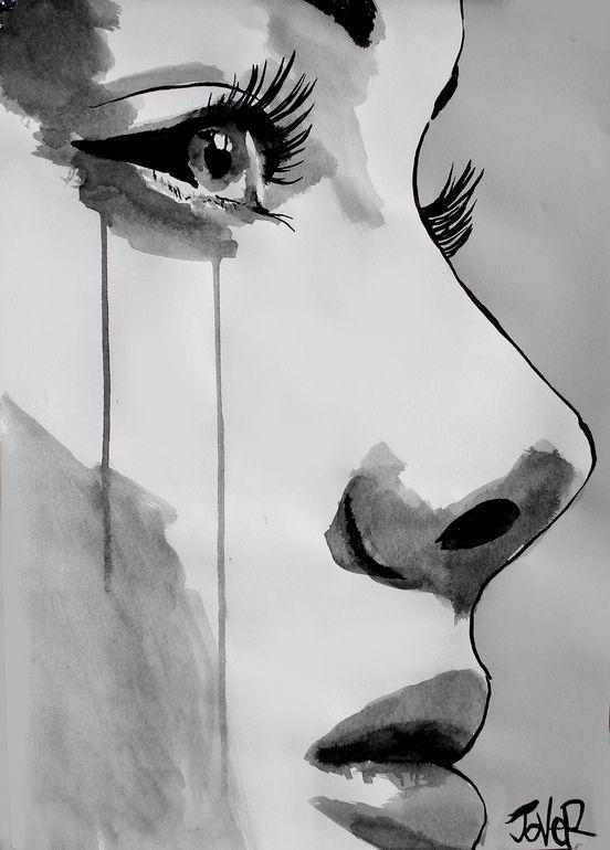 Drawn sad sad face Awakening paintings Pinterest best The