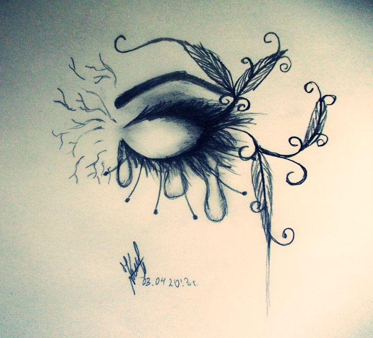 Drawn sad really DeviantART on eye Sad Best