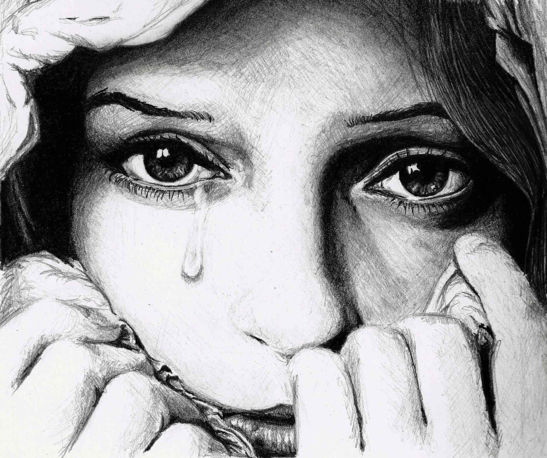 Drawn sad sad face  Sad Images Human Of