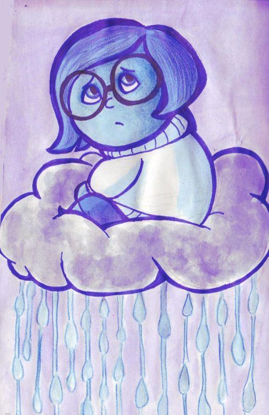 Drawn sad doodle Out