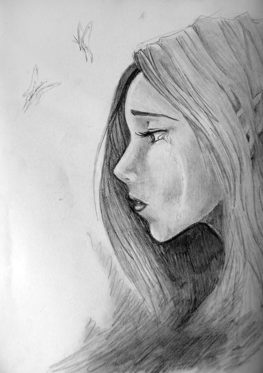 Drawn sad art Face deviantART Faces of face