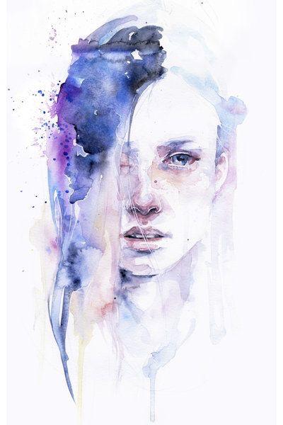 Drawn sad soft grunge Sad painting beautiful purple draw