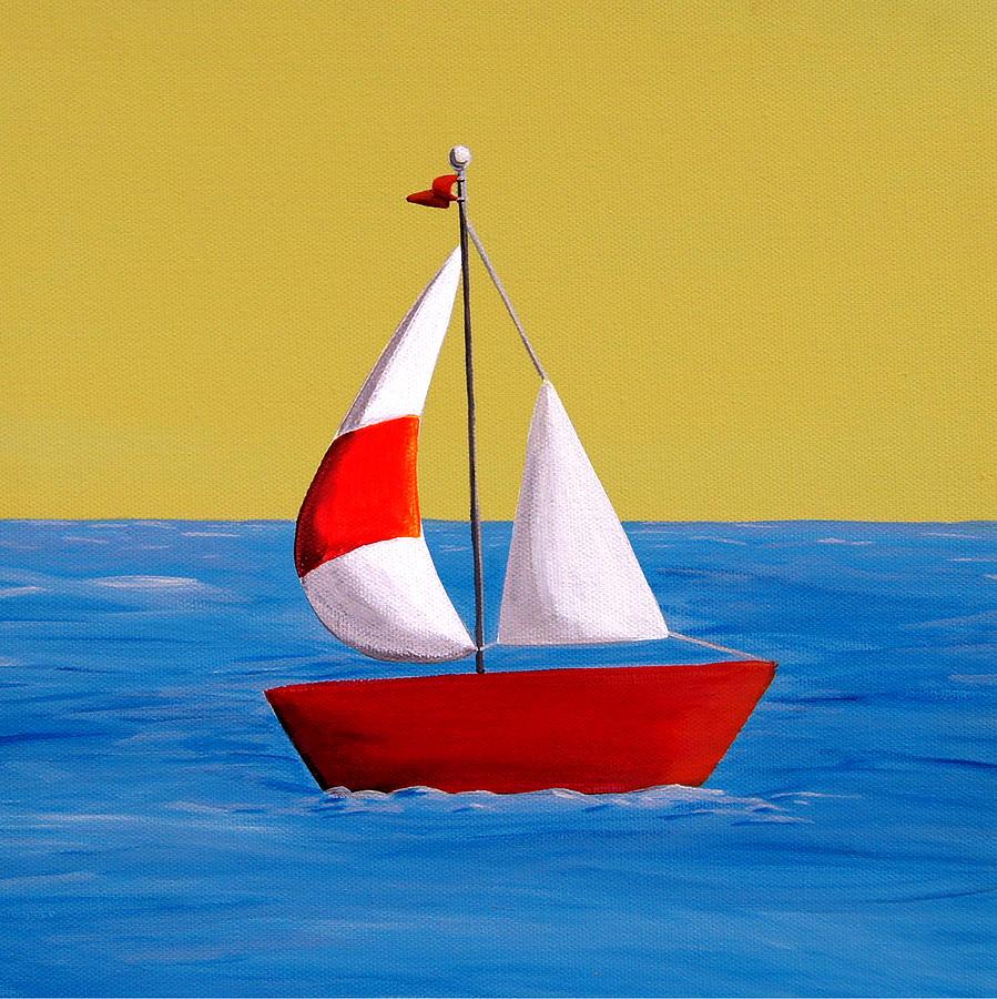 Drawn sailboat painted Sailboat painting Lil Sailboat Lil