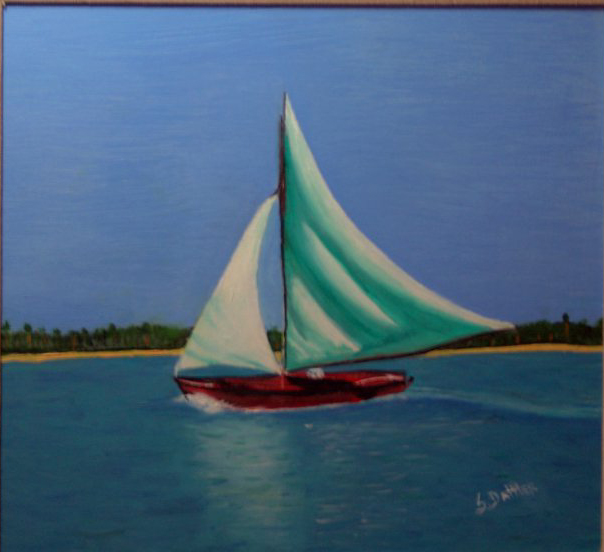 Drawn sailboat painted Of paintings first of Oil
