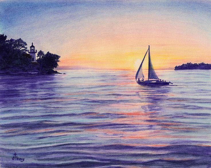 Drawn sailboat painted On ideas Sailboat sailboat Best