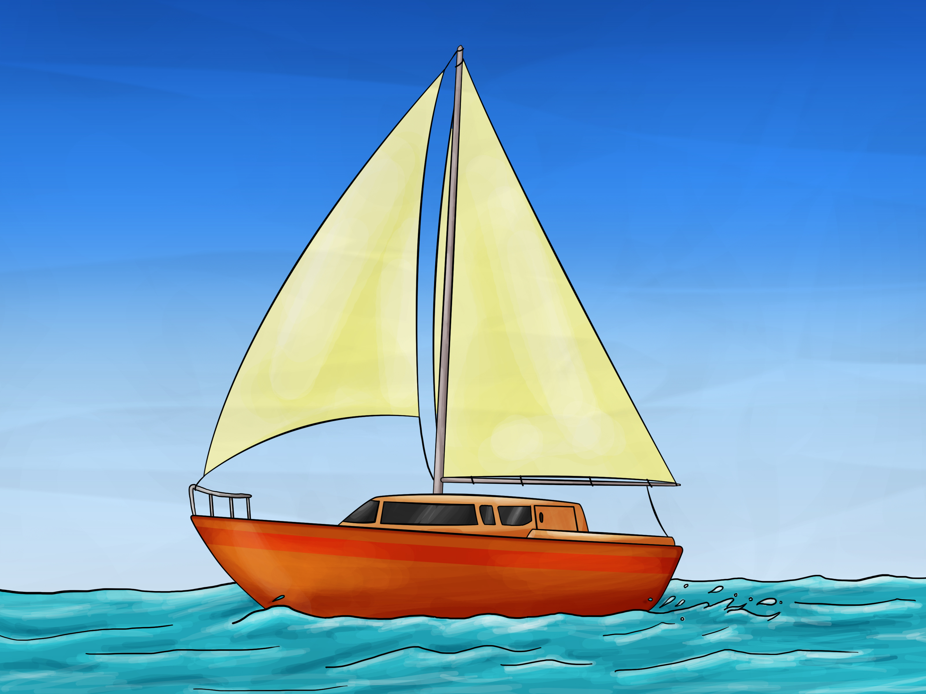 Drawn sailing boat Pictures) 7 to (with Steps