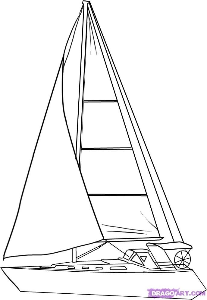 Drawn sailing boat On Best Pinterest drawing #drawing