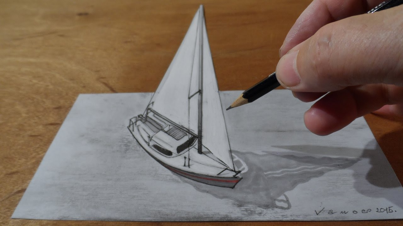 Drawn sailing #7