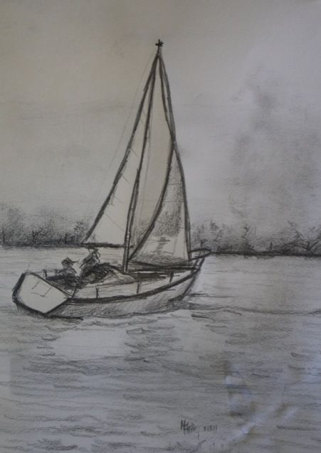 Drawn sailing Drawing Suggestions Best Sketch Sailboat