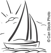 Drawn sailing boat Illustrations 19 422 Vector Sailboat
