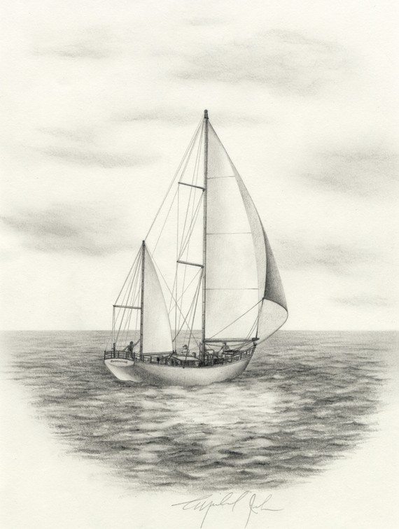 Drawn sailing Original Sketch Keywords pencil &