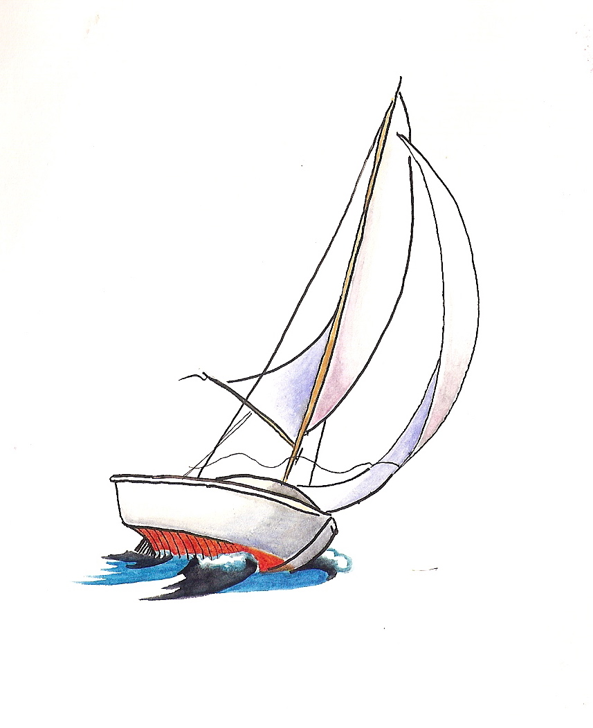Drawn sailing boat The ideas Pinterest we Sailing
