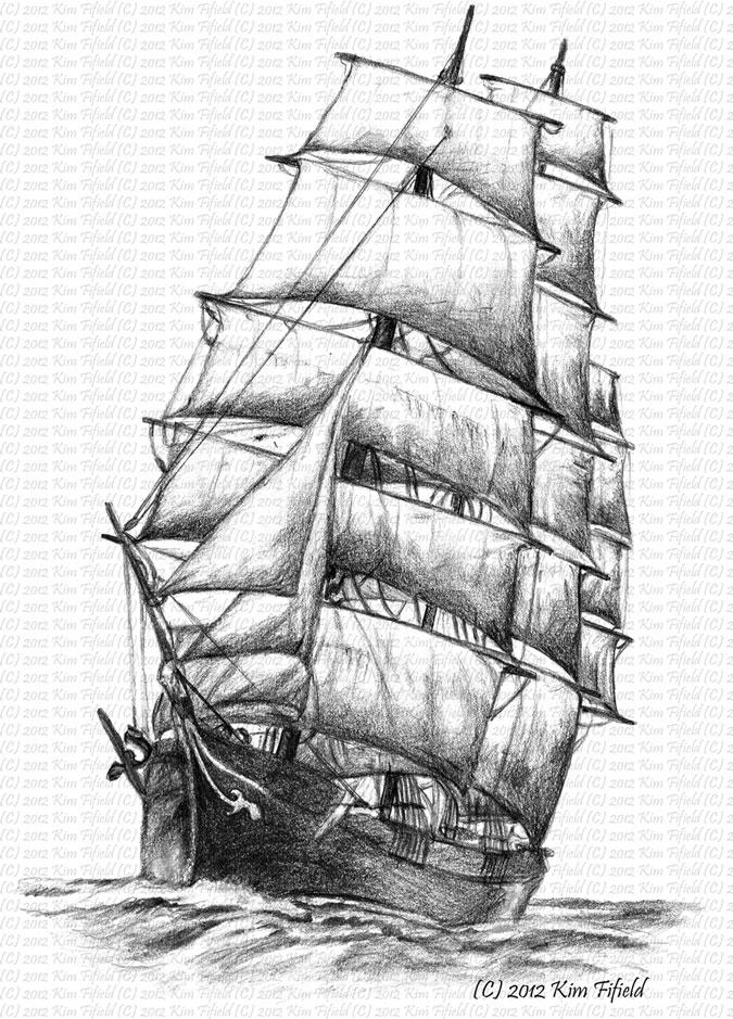 Drawn ship pencil drawing My Sailing designs sailing Fergus