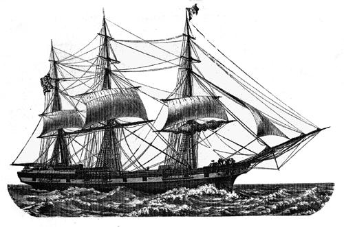 Drawn sailing ship And Ships V  C