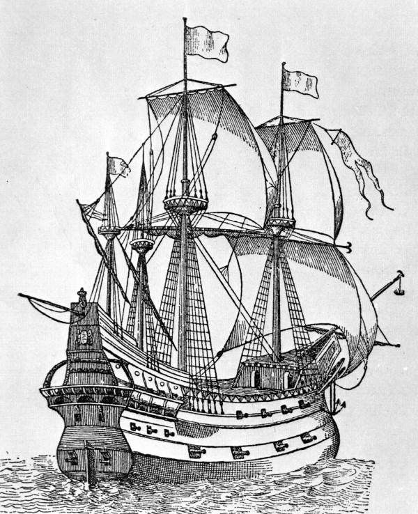 Drawn pirate spanish Boat galleon seas Best on